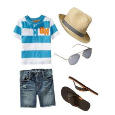 boys summer outfit, created by rmoreno on Polyvore