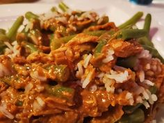 Peanut chicken slow cooker - 15 minutes of work and very tasty! - Peanut chicken slow cooker – 15 minutes of work and very tasty! Slow Cooker Recepies, Healthy Slow Cooker, Crock Pot Slow Cooker, Healthy Crockpot Recipes, Slow Cooker Chicken, Cooker Recipes, Healthy Meals For Two, Slow Cooking, Asian