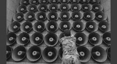 North Korean leader Kim Jong-un has ordered his frontline troops to be on a war footing, state media says, as tensions rise with the South. Wall Of Sound, Sound Art, Bbc News, Car Tattoos, Rich Money, Loudspeaker, North Korea, Warfare, Kpop