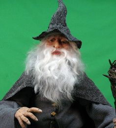 ReMake OOAK Gandolf the Grey Wizard Animated Doll  by cre8orstouch, $175.00