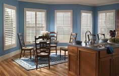 Eclipse Shutters custom made interior plantation shutters.