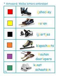 * Welke letters ontbreken? 2-2 School, Winter, Shopping, Winter Time, Winter Fashion