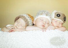 Triplet boys newborn photography - cute idea for my Nephews! @Laetitia Meneley