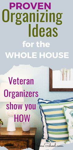 Need some organizing ideas for your whole house? Learn how to organize your house room by room from professional veteran organizers right here. Planner Organization, Garage Organization, Financial Organization, Bathroom Organization, Organize Your Life, Organizing Your Home, Organization Ideas, Veterans Organizations, Chalkboard Markers