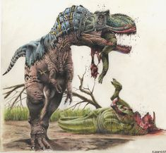 """Quick Albertosaurus Facts: - Albertosaurus weighed as much as a hippopotamus - It was 3 car links long - May have hunted in packs - Could run as fast as a grizzly bear - Name means """"Lizard of Alberta"""""""
