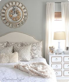 Silver and Gold Bedroom, understated and gorgeous.