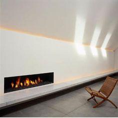 Ultra wide fireplace