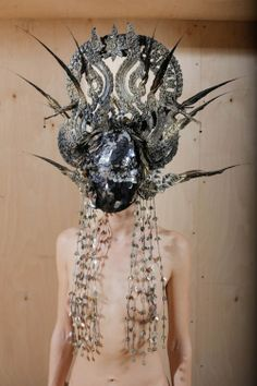 'Gods', the SS 2014 collection of Konstantin...looks like a blowfly going to a fancy dress ball...