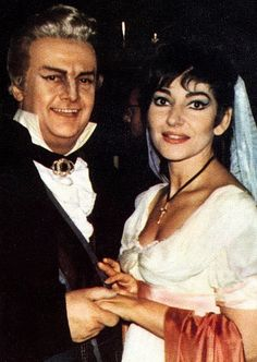 Awesome.... never seen this photo before! Callas with Tito Gobbi after Tosca