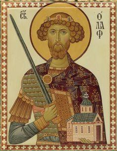 King Olaf II Haraldsson of Norway (Saint Olaf of Norway). House of St. Olaf (Fairhair Dynasty).
