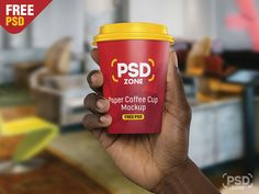 Hand Holding Paper Cup Mockup PSD by PSD Zone