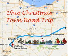 Travel | Ohio | Christmas Towns | Road Trip | Holidays | Bucket List