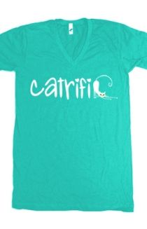 Catrific V-Neck Tee Printed on American Apparel - http://www.districtlines.com/21818-Catrific-V-Neck-T-Shirt/catrific #catrific