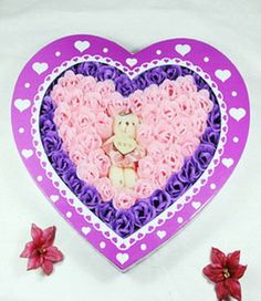 100 Rose Soap Flowers Purple and Pink 001. For Only $69.99
