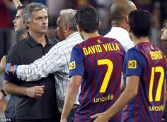 Mourinho (pictured during his time at Real Madrid) has a history of causing chaos at his former clubs