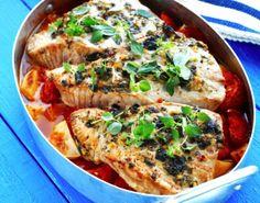 Fish filets in Mediterranean style - Välimeren uunikala, resepti – Ruoka.fi