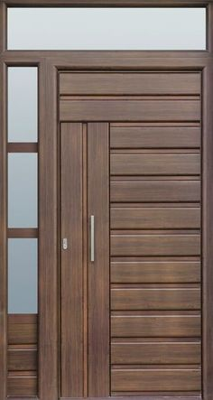Interior wood doors are naturally beautiful. This is especially true if you are going to choose solid hardwood. Modern Wooden Doors, Wooden Front Doors, Modern Front Door, Wood Doors, Wooden Windows, Front Door Design Wood, Door Gate Design, Wooden Door Design, Main Gate Design