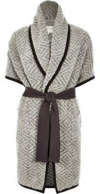 River Island Womens Grey slouchy blanket jacket - $60.00