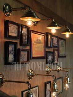 画像5: ヴィンテージビーハイブシェード真鍮製コロニアルブラケットA/ヴィクトリアンウォールランプ/壁掛け照明