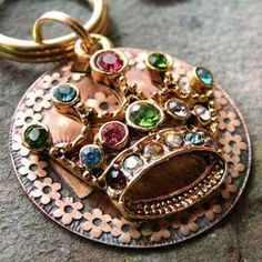 Dog Collar Charm Pet Tag Rhinestone Crown Bling by TagMePetTags, $7.00