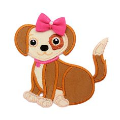 Dog IronOn Applique Patch  Kids / Baby by PatchMommy on Etsy, $5.49