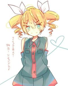 Kagamine Rin cosplaying as Kasane Teto!! Just 'cause they're besties like that.
