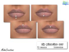 The Sims Resource: Lip Piercing Set by MahoCreations • Sims 4 Downloads