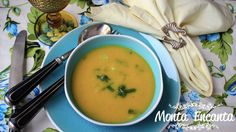 Sopa creme de Abóbora com gengibre Tomato Basil Soup, Cheeseburger Chowder, Curry, Food And Drink, Veggies, Low Carb, Healthy Recipes, Fruit, Eat