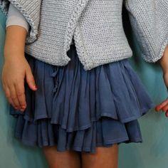 morley rae skirt - blue grey  by morley