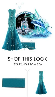 """Mermaid Ball"" by itsablingthing ❤ liked on Polyvore featuring Disney, Gucci and Dolce&Gabbana"