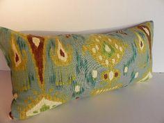 Ikat 10X20 Pillow Cover Robert Allen Designer Home Decor Fabric-Throw Pillow-Accent Pillow-Living Room Pillow-Toss Pillow