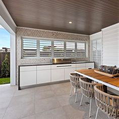 The team has recently completed two beautifully designed Alfresco BBQ Kitchens f. - The team has recently completed two beautifully designed Alfresco BBQ Kitchens for in - Outdoor Bbq Kitchen, Outdoor Kitchen Design, Outdoor Cooking, Outdoor Kitchens, Outdoor Entertaining, Indoor Grill, Perth, Brisbane, Alfresco Designs