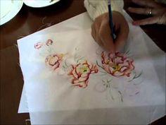 Pittura su tessuto - YouTube