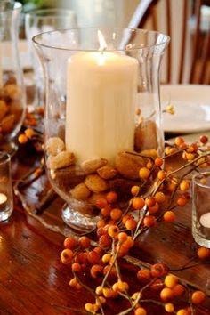 fall/thanksgiving centerpiece... love.