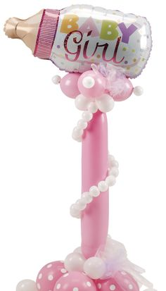 It's a Girly-Girl baby balloon column