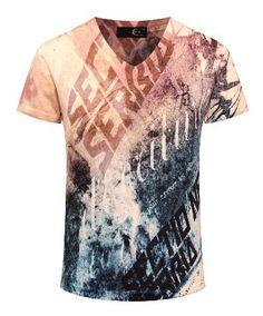 new summer vintage short sleeve v neck 3d printed t shirt men homme brand casual cotton t-shirt Men's Clothing animal M-3XL