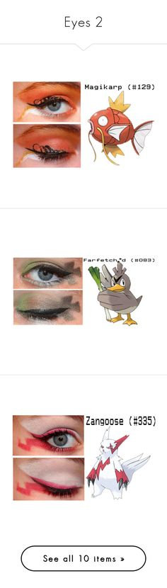 """Eyes 2"" by vampirekitty34 ❤ liked on Polyvore featuring makeup, eyes, beauty, eye makeup, pokemon and olho"