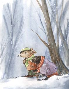 Winter Walk by asiapasek || Wind in the Willows, mole, rat, Kenneth Grahame