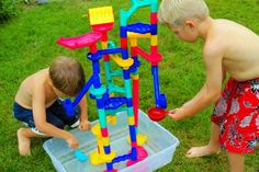 Water Fun with a Marble Run - Inner Child Learning