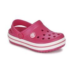 Schoenen Meisjes Klompen Crocs CROCBAND KIDS Roze / Wit Crocs Fashion, Crocs Crocband, Girls Pajamas, Flip Flops, Slippers, Crafts, Outfits, Shoes, Crocs Shoes