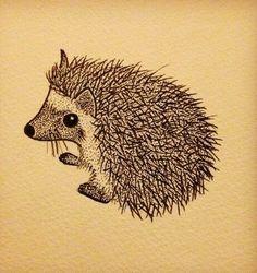 """""""Looks like a tattoo of a Hedgehog"""" Hedgehog Art, Hedgehog Tattoo, Hedgehog Drawing, Animal Lover Tattoo, Animal Tattoos, Fox Tattoos, Cartoon Sketches, Cute Animal Drawings, Cover Tattoo"""