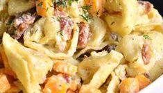 Our Favorite Macaroni Salad - Easy Homemade Salad For Your Next BBQ Macaroni Salad Ingredients, Homemade Macaroni Salad, Antipasto Pasta Salads, Pasta Salad Recipes, Cooking Bacon, Cooking Recipes, Snacks Recipes, Dinner Recipes, Greek Tortellini Salad