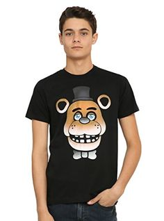 Five Nights At Freddys Freddy Fazbear GlowInTheDark Face TShirt * Click on the image for additional details.
