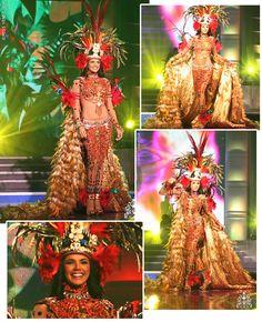 Miss Venezuela en traje tipico fantasia de la Amazonia Venezuela II