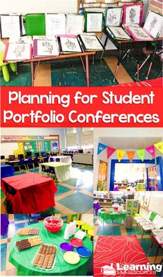 How to plan for and set up for student portfolio conferences.
