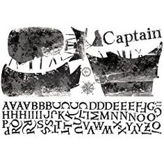 RoomMates Personalized Captain Peel and Stick Giant Wall Decals Nursery or bedroom