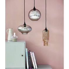Housedoctor Hanglamp CUBE zand kleur bruin met spiegel effect Ø13xh38cm