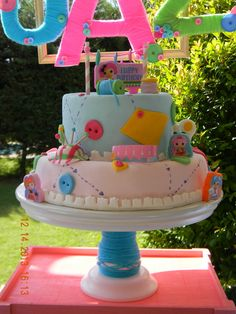 Amazing cake at a Lalaloopsy party!  See more party ideas at CatchMyParty.com!  #partyideas #lalaloopsy
