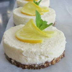 Gezonde citroen cheesecake zonder oven