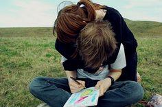 Friendship. Boyfriend. Love. Hug.